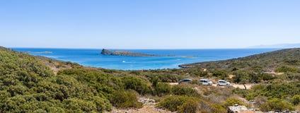 Beautiful bay. Peninsula Kalydon. Stock Images