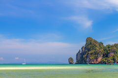 Beautiful bay of Phi Phi island  Thailand Royalty Free Stock Photography