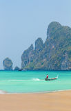 Beautiful bay of Phi Phi island  Thailand Royalty Free Stock Images