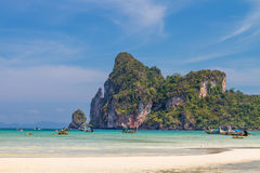 Beautiful bay of Phi Phi island  Thailand Royalty Free Stock Image