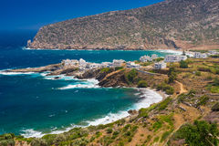 Beautiful bay, picturesque seashore. Stock Photography