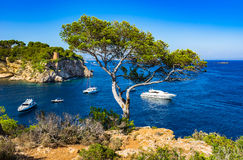 Beautiful bay of Portals Vells on Majorca Spain Mediterranean Sea Stock Images