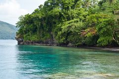 Beautiful Bay. It`s relaxing. Enjoyable. And peaceful Place. Quite place. Snorkeling. Coral Reef Stock Photo