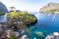 Port Sa Calobra on Mallorca, Spain Stock Photo