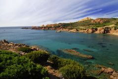 Beautiful bay on Sardinia Stock Photos