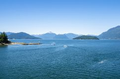 Scenic Bay ona Clear Summer Day Stock Images