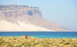 Beautiful bay on Socotra island royalty free stock image