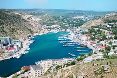Beautiful bay in the summer. Beautiful bay in the Crimea in the summer stock photos