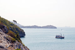 Beautiful bay in Thai. Beautiful bay at chonburi thailand Royalty Free Stock Photography