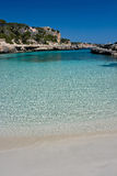 Beautiful beach. Sandy beach on the Majorca, Spain Royalty Free Stock Photography
