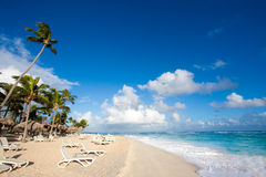 Beautiful Beach. In Dominican Republic royalty free stock photo