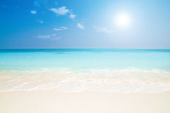 Beautiful beach. On the maldives in summertime Royalty Free Stock Image