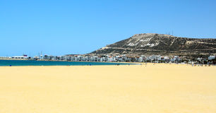 The beautiful beach. (picture made in Agadir, Morocco Royalty Free Stock Images