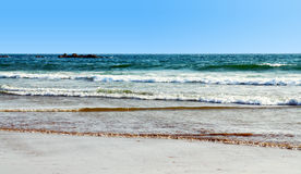 The beautiful beach Royalty Free Stock Photos