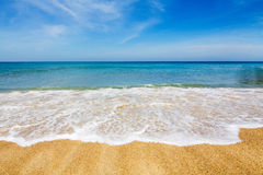 Beautiful beach. The beautiful beach with blue sky royalty free stock image