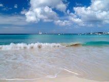 Beautiful beach. Fantastic view from the beach of Caribbean sea Stock Image