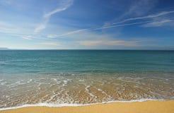 Beautiful beach. Whithout no one royalty free stock photo
