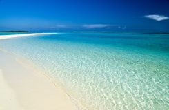 Beautiful beach. With clear blue water Royalty Free Stock Photos