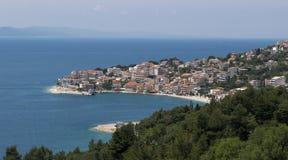 Beautiful beach on the Adriatic coast Stock Photos