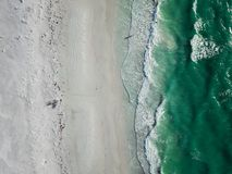 Beautiful Beach with aerial view. Beautiful beach view in Florida from drone view Stock Image
