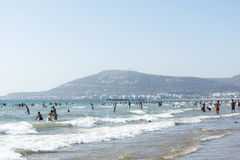 Beautiful beach in Agadir. Stock Photo