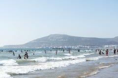 Beautiful beach in Agadir. Stock Photo