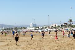 Beautiful beach in Agadir. Stock Photography