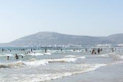Beautiful beach in Agadir. Stock Photos