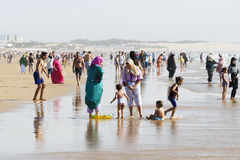 Beautiful beach in Agadir. Royalty Free Stock Image