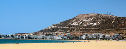 The beautiful beach (Agadir, Morocco) Stock Image