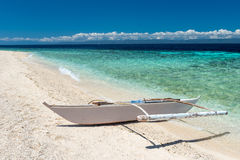Beautiful beach against seaview with boat at Balicasag island Royalty Free Stock Image