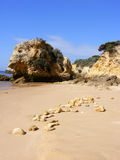 Beautiful Beach in Algarve 2 Royalty Free Stock Photo