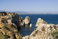 Beautiful beach of Algarve, Lagos, Portugal Royalty Free Stock Image