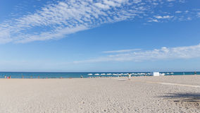 Beautiful beach Alicante, Costa Blanca Royalty Free Stock Photo