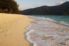Beautiful Beach And Sea Stock Photo