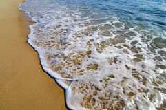 Beautiful Beach And Waves Royalty Free Stock Photos