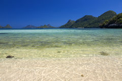 Beautiful beach at Ang Thong National Park Royalty Free Stock Photography