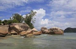 Beautiful beach Anse Boudin Stock Photo