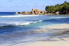 Beautiful beach Anse Cocos Stock Photography