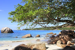 Beautiful beach Anse Lazio Royalty Free Stock Photography