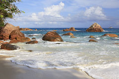 Beautiful beach Anse Lazio Royalty Free Stock Images