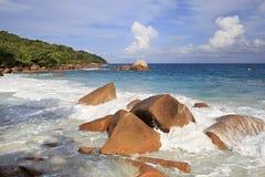 Beautiful beach Anse Lazio Stock Images