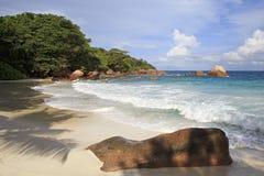Beautiful beach Anse Lazio Stock Photo