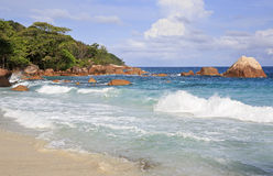 Beautiful beach Anse Lazio Stock Image