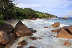 Beautiful beach Anse Lazio Stock Photos