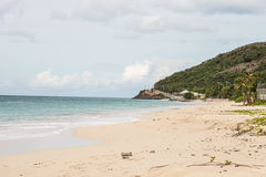 Beautiful beach on Antigua stock photos