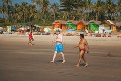 Beautiful beach in Arambol Royalty Free Stock Images