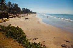 Beautiful beach in Ashvem Royalty Free Stock Photo