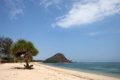 Beautiful beach in Asia. Beach of Kuta on Lombok in Indonesia Royalty Free Stock Images