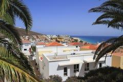 Beautiful beach on the Atlantic Ocean on Fuerteventura in the vi Royalty Free Stock Photography